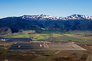 A view of the Andasol 1 and 2, a parabolic through power plants located in Granada, Spain. With a gross electricity output of around 180 GWh per year and a collector surface area of over 510, 000 square meters - equal to 70 soccer pitches - they are the largest solar power plants in the world..Following their construction period of around two years, the Andasol power plants will supply up to 200,000 people with environmentally friendly solar electricity. Photographer: Markel Redondo/Fedephoto.com.A view of the Andasol 1 and 2, a parabolic through power plants located in Granada, Spain. With a gross electricity output of around 180 GWh per year and a collector surface area of over 510, 000 square meters - equal to 70 soccer pitches - they are the largest solar power plants in the world..Following their construction period of around two years, the Andasol power plants will supply up to 200,000 people with environmentally friendly solar electricity. Photographer: Markel Redondo/Fedephoto.com for Greenpeace.