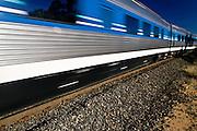 Speeding Passenger Train Rural NSW, Australia