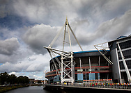 A general view of Principality Stadium, home of Wales<br /> <br /> Photographer Simon King/Replay Images<br /> <br /> Friendly - Wales v Ireland - Saturday 31st August 2019 - Principality Stadium - Cardiff<br /> <br /> World Copyright © Replay Images . All rights reserved. info@replayimages.co.uk - http://replayimages.co.uk