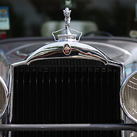 The front grill of a 1931 Packard
