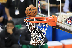 A general view of a ball going through the net during the NBA London Game 2018 at the O2 Arena, London. PRESS ASSOCIATION Photo. Picture date: Thursday January 11, 2018. See PA story BASKETBALL London. Photo credit should read: Simon Cooper/PA Wire. RESTRICTIONS: Editorial use only, No commercial use without prior permission