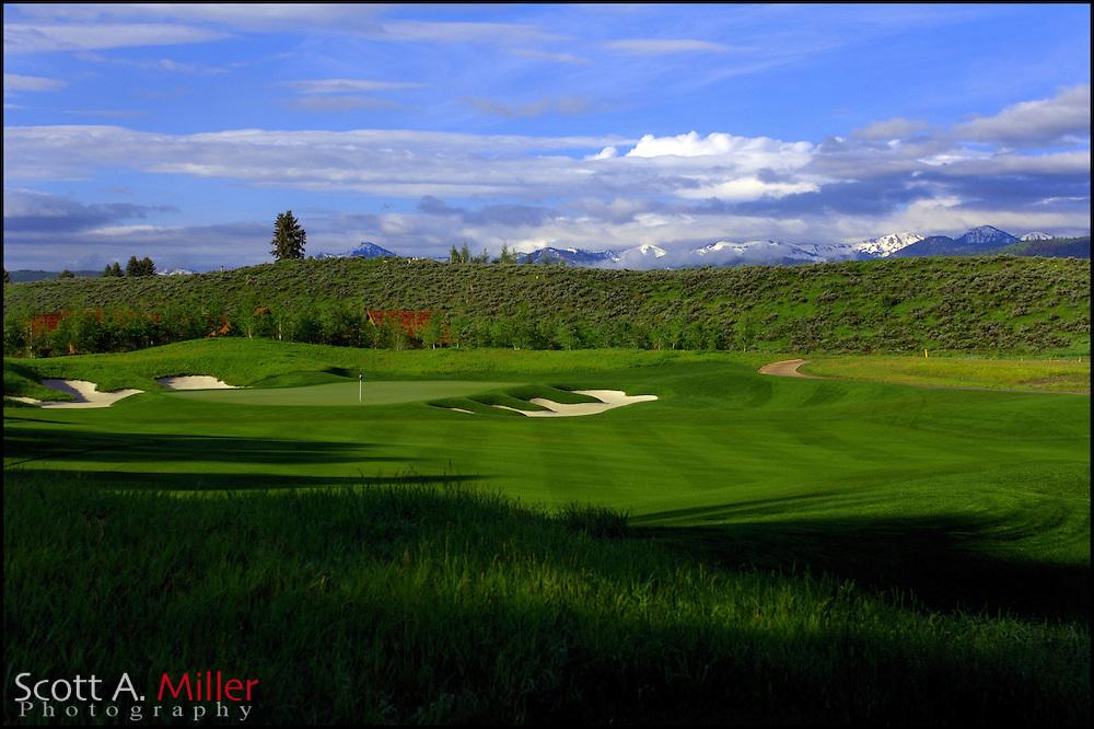 Jackson, WY.:  June 9, 2006 - 14th hole on 3 Creek Ranch in Jackson, WY....©2006 Scott A. Miller