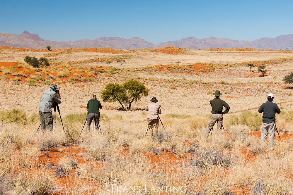 Photographers at work, NamibRand Nature Reserve, Namibia