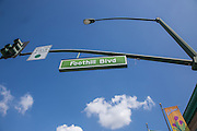 Foothill Blvd Street Sign in Glendora