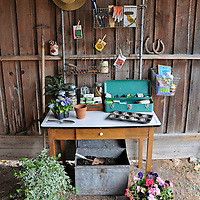 Shed potting bench