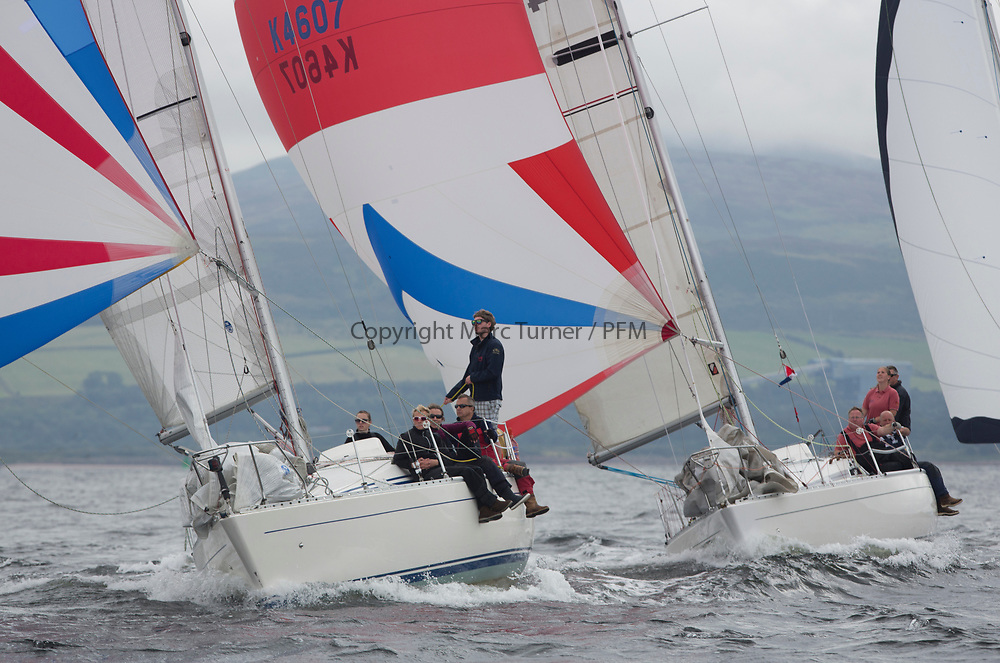 Largs Regatta Week 2017 <br /> <br /> Day 2, GBR4603, Vendeval, Colin Greer, HSC, Sigma 33 and GBR4607, Leaky Roof II, Harper/Robertson, CCC/Cove SC<br /> <br /> Picture Marc Turner