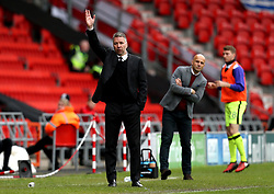 Doncaster Rovers manager Darren Ferguson and Exeter City manager Paul Tisdale - Mandatory by-line: Robbie Stephenson/JMP - 29/04/2017 - FOOTBALL - The Keepmoat Stadium - Doncaster, England - Doncaster Rovers v Exeter City - Sky Bet League Two