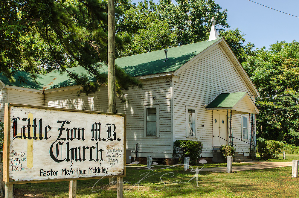 Little Zion Missionary Baptist Church is believed to be the site of blues musician Robert Johnson's grave. (Photo by Carmen K. Sisson)