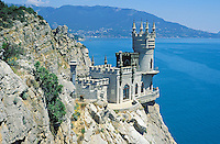 Ukraine, Crimée, Chateau du Nid d'Hirondelle. La riviera ukrainiaine sur la Mer Noire// Swallow's nest - Ukrainian riviera on the black sea - Crimea - Ukraine