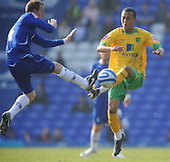 Birmingham - Saturday March 21st, 2009: Lee Bowyer of Birmingham City and Ryan Bertrand of Norwich City during the Coca Cola Championship match at St Andrews, Birmingham. (Pic by Alex Broadway/Focus Images)