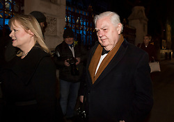 © Licensed to London News Pictures. 07/02/2018. London, UK.  NORMAN LAMONT arrives at the Natural History Museum in London for the annual Black and White Ball, a fundraiser held by the Conservative Party. Photo credit: Ben Cawthra/LNP