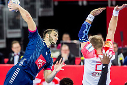 Romain Lagarde (FRA) during handball match between National teams of France and Denmark in Bronze medal match of Men's EHF EURO 2018, on January 28, 2018 in Arena Zagreb, Zagreb, Croatia . Photo by Ziga Zupan / Sportida