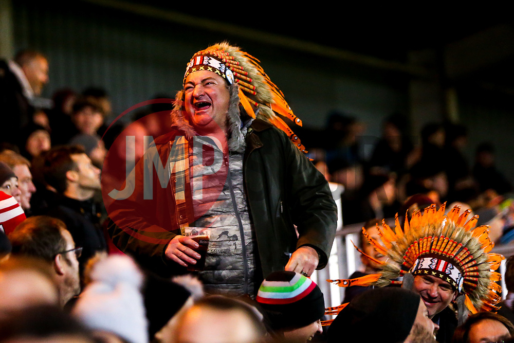 Exeter Chiefs fans at Harlequins - Mandatory by-line: Robbie Stephenson/JMP - 30/11/2018 - RUGBY - Twickenham Stoop - London, England - Harlequins v Exeter Chiefs - Gallagher Premiership Rugby