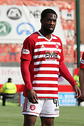 Hamilton Accademical defender Lennard Sowah (46)  during the Ladbrokes Scottish Premiership match between Hamilton Academical FC and Rangers at New Douglas Park, Hamilton, Scotland on 24 February 2019.