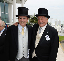 Left to right, MICHAEL TABOR and JOHNNY GOLD at the Investec Derby 2013 held at Epsom Racecourse, Epsom, Surrey on 1st June 2013.