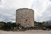Greece, Rhodes, Kritinia Base of disused windmill