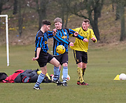 - Clarks (blue and black) v Fife Thistle (yellow) in the Dundee Saturday Morning Football League at Drumgeith, Dundee<br /> <br />  - © David Young - www.davidyoungphoto.co.uk - email: davidyoungphoto@gmail.com