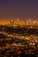 Downtown Los Angeles skyline, California USA.