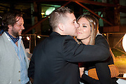 TYRONE WOOD; DASHA ZHUKOVA, Dinner and party  to celebrate the launch of the new Cavalli Store at the Battersea Power station. London. 17 September 2011. <br /> <br />  , -DO NOT ARCHIVE-© Copyright Photograph by Dafydd Jones. 248 Clapham Rd. London SW9 0PZ. Tel 0207 820 0771. www.dafjones.com.
