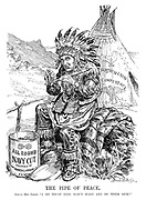 """The Pipe of Peace. Great Dry Chief. """"I do trust this won't make any of them sick!"""""""