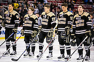 The Michigan Tech Huskies take on the Western Michigan Broncos in the final game of the 52nd Annual Great Lakes Invitational at Joe Louis Arena on Friday December 30, 2016.  Andrew Knapik/MiHockeyNow