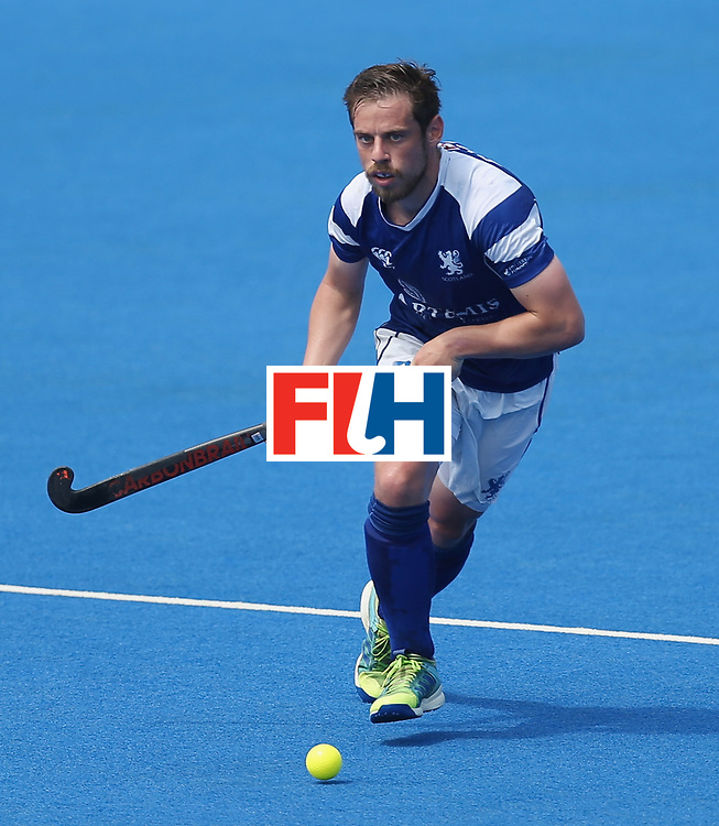 LONDON, ENGLAND - JUNE 20:  Gavin Byers of Scotland during the Pool B match between Scotland and Canada on day six of the Hero Hockey World League Semi-Final at Lee Valley Hockey and Tennis Centre on June 20, 2017 in London, England.  (Photo by Alex Morton/Getty Images)