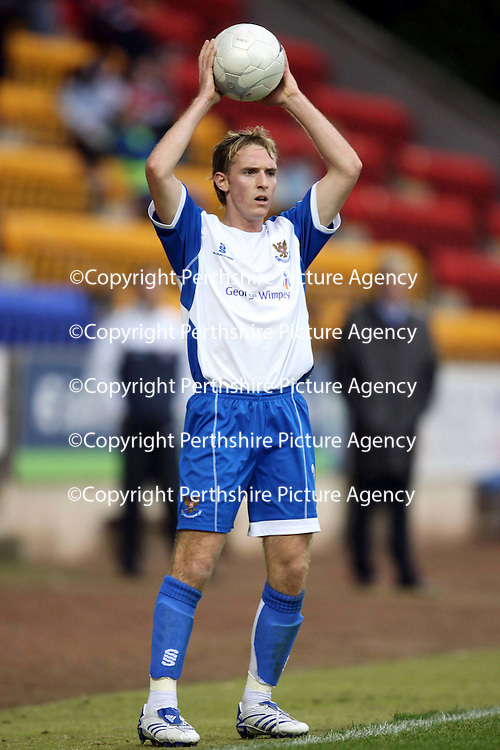 St Johnstone FC... Season 2007-08<br /> Gary Irvine<br /> Picture by Graeme Hart.<br /> Copyright Perthshire Picture Agency<br /> Tel: 01738 623350  Mobile: 07990 594431