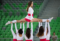 Dragon Ladies perform during basketball match between KK Union Olimpija Ljubljana (SLO) and Hapoel Jerusalem (ISR) in Round #4 of 7Days EuroCup 2016/17, on October 26, 2016 in Arena Stozice, Ljubljana, Slovenia. Photo by Vid Ponikvar / Sportida
