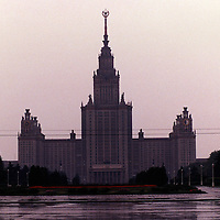 Photographs of Russia including Moscow and St. Petersburg and the areas between particularly following warerways