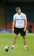 Owen Farrell of Saracens pictured during training ahead of the Heineken Cup Final at the Millennium Stadium, Cardiff<br /> Picture by Michael Whitefoot/Focus Images Ltd 07969 898192<br /> 24/05/2014