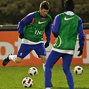 NLD/Katwijk/20110207 - Training Nederlands Elftal voor oefeninterland tegen Oostenrijk, Klaas Jan Huntlaar