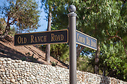 Bear Brand Ranch Entrance at Camino Del Avion and Old Ranch Road