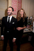 TOM FORD; ELLE MACPHERSON, Graydon Carter hosts a diner for Tom Ford to celebrate the London premiere of ' A Single Man' Harry's Bar. South Audley St. London. 1 February 2010