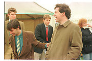 James Johnstone; ( denim shirt) George Osborne. , Oxford University  ( Bullingdon ) Point to Point. Kingston Blount. 1 Feb 1997. ONE TIME USE ONLY - DO NOT ARCHIVE  © Copyright Photograph by Dafydd Jones 248 clapham Rd. London Sw9 0PZ. 0207 820 0771 www.dafjones.com