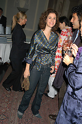 MOLLIE DENT-BROCKLEHURST at a party hosted by Tatler magazine to celebrate the publication of Lunar park by Bret Easton Ellis held at Home House, 20 Portman Square, London W1 on 5th October 2005.<br /><br />NON EXCLUSIVE - WORLD RIGHTS