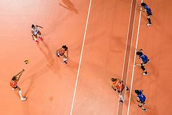 09-07-2017 NED: World Grand Prix Netherlands - Japan, Apeldoorn<br /> Match five of first weekend of group C during the World Grand Prix. Netherlands lost in five sets from Japan / Anne Buijs #11, Myrthe Schoot #9, Robin de Kruijf #5, /item