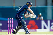 England ODI Captain & Batsman Eoin Morgan hits a boundary to take him to his half century and 50 during the 3rd Royal London ODI match between England and India at Headingley Stadium, Headingley, United Kingdom on 17 July 2018. Picture by Simon Davies.