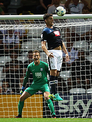 Chris Martin of Derby County fires a header over the bar - Mandatory by-line: Matt McNulty/JMP - 16/08/2016 - FOOTBALL - Deepdale - Preston, England - Preston North End v Derby County - Sky Bet Championship