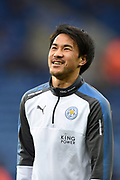 Leicester City forward Shinji Okazaki (20) during the Premier League match between Leicester City and Manchester City at the King Power Stadium, Leicester, England on 18 November 2017. Photo by Jon Hobley.