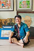 Aung Soe Min founder, Pansodan Art Gallery, Yangon, Myanmar.