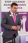Gavin Newlands (MP & Shadow Spokesperson on Sport, Scottish National Party) Session 6: THE CIVIL SOCIETY PERSPECTIVE ON VAW IN POLITICS 'Violence Against Women in Politics' Conference, organised by all the UK political parties in partnership with the Westminster Foundation for Democracy, 19th and 20th of March 2018, central London, UK.  (Please credit any image use with: © Andy Aitchison / WFD