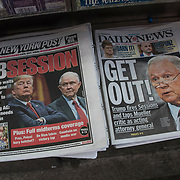 Daily News cover headlines about  President Trump latest tweets.<br />