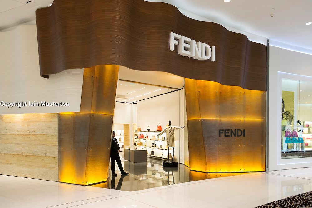 Fendi shop in Dubai Mall United Arab Emirates