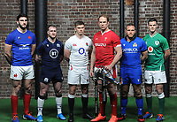 Rugby Union - 2020 Guinness Six Nations Launch Press Conference - Tobacco Dock, London<br /> <br /> l-r Captain 's Charles Ollivon of France, Stuart Hogg of Scotland, Owen Farrell of England, Alun Wyn Jones of Wales, Luca Bigi of Italy and Jonny Sexton of Ireland <br /> <br /> COLORSPORT/ANDREW COWIE