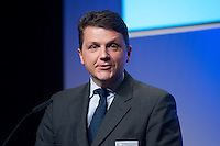 26 FEB 2009, BERLIN/GERMANY:<br /> Stephan Sturm, CFO Fresenius SE, haelt eine Rede, Preisverleihung des Best of European Business Awards, Franzoesische Botschaft<br /> IMAGE: 20090226-02-021
