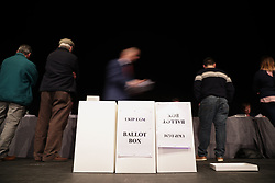 © Licensed to London News Pictures . 17/02/2018. Birmingham, UK. Votes on whether to retain or dismiss Bolton as leader are counted . The NEC of UKIP meet to decide leader Henry Bolton's fate as leader following a racism row over his girlfriend Jo Marney and controversy over his claimed qualifications whilst serving in the military . Photo credit: Joel Goodman/LNP