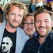 NLD/Amsterdam/20160829 - Seizoenspresentatie RTL 2016 / 2017, Klaas van der Eerden, Albert Jan van Rees en Pepijn Gunneweg