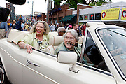April 27, 2013 - Jerry Lee Lewis rode in his Rolls Royce Corniche III, in a parade on Beale Street to celebrate the grand opening of the Jerry Lee Lewis' Cafe and Honkey Tonk on Saturday afternoon. His current wife Judith in in the back seat.