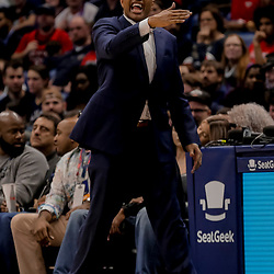 Dec 31, 2018; New Orleans, LA, USA; New Orleans Pelicans head coach Alvin Gentry reacts during the second half against the Minnesota Timberwolves at the Smoothie King Center. Mandatory Credit: Derick E. Hingle-USA TODAY Sports