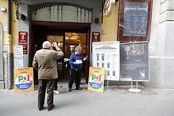 April 29, 2019 - Naples, ITALY - Opening of the PD electoral campaign by secretary Nicola Zingaretti in Naples at the Teatro Sannazaro 29 April 2019 (Credit Image: © Fabio Sasso/ZUMA Wire)